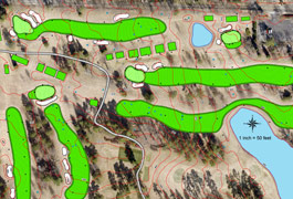 Golf course mapping image
